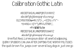 Calibration Gothic NBP Latin