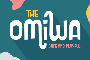Omiwa Cute and Playful Font