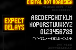 Digital Dot Roadsign