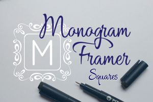Square Monogram Frames