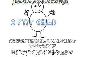 A fat child