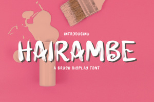 Hairambe - Brush Font