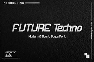 Future Techno Italic