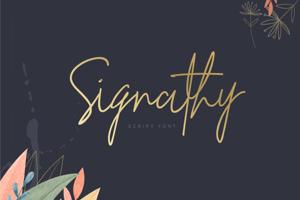 Signathy Script Font