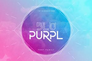 BluPurpl Font