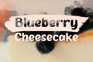 b Blueberry Cheesecake