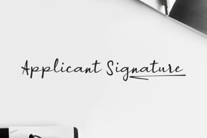 a Applicant Signature