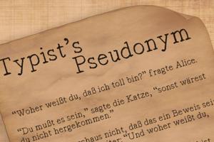 Typist's Pseudonym