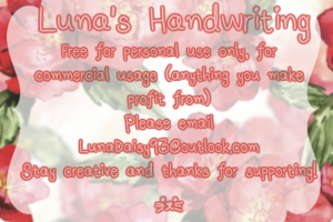 Luna's Handwriting
