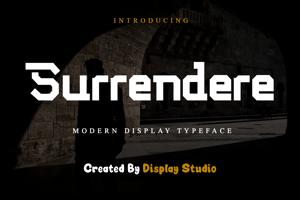 Surrendere