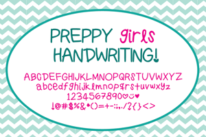PreppyGirlsHandwriting