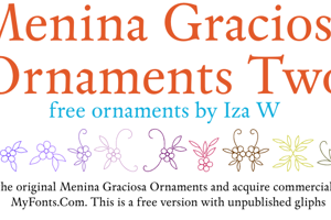 Menina Graciosa Ornaments Two