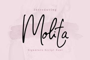 Molita Signature Font