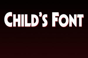 Child's Font