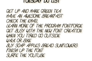 Tuesday Do List