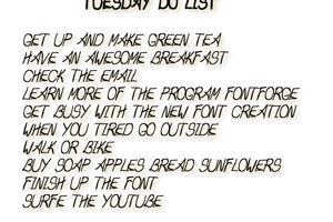 Tuesday Do List