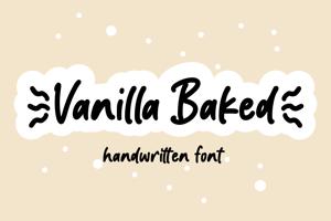 Vanilla Baked