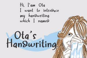 Ota 's Handwriting