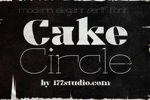 Cake Black Font