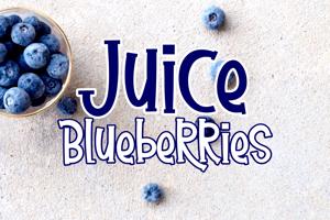 Juice Blueberries