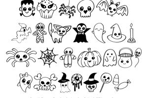 Cute Halloween Drawings