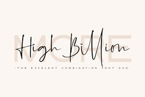 High Billion Sans