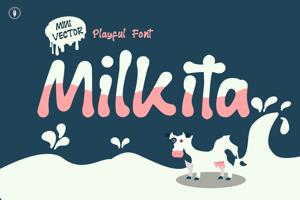 Milkita Playful Font
