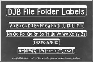 DJB File Folder Labels