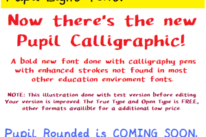 Pupil Caligraphic