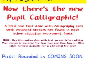 Pupil Caligraphic