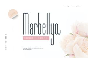 Marbellya Condensed Sans Serif