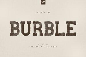 BURBLE VP TYPEFACE - SVG FONT