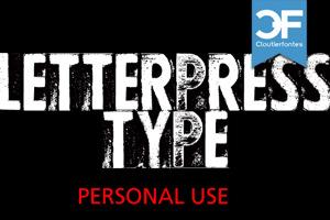 CF Letterpress Type