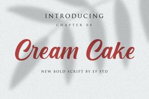Cream Cake | New Bold Script Font