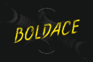 Boldace Strong Brush Font