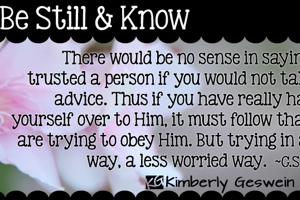 KG Be Still & Know
