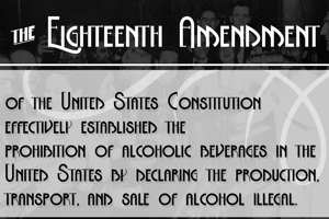 The Eighteenth Amendment Bold
