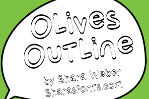 Olives Outline