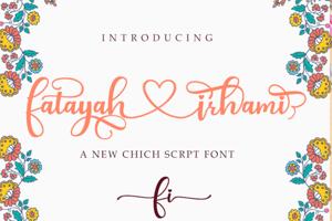 fatayah irhami - A Chic script font