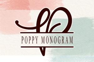 Poppy Monogram _