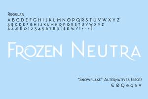 Frozen Neutra