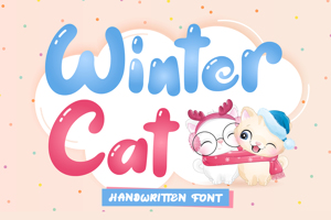 Winter Cat - Handwritten Font