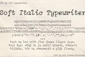 Soft Italic Typewriter