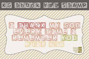 KG Thank You Stamp