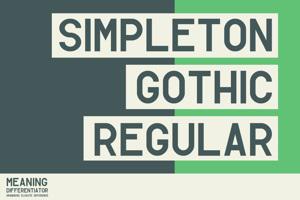 Simpleton Gothic