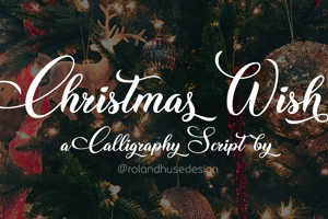 Christmas Wish Calligraphy