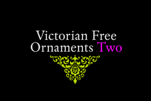 Victorian Free Ornaments Two