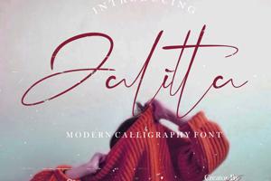 Jalitta Free Modern Calligraphy