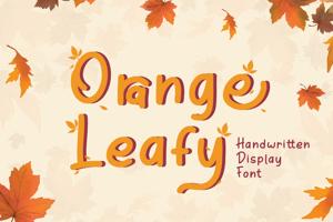 Orange Leafy Display