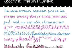 Cedarville Pnkfun1 Cursive